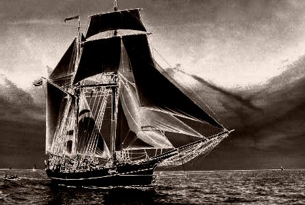 verschwindet das boot hinter dem horizont